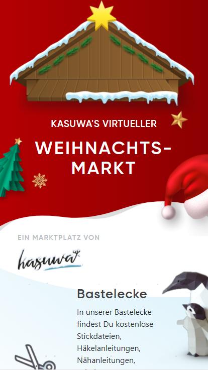 kasuwa's erster virtueller Weihnachtsmarkt am 20.11.2020 eröffnet