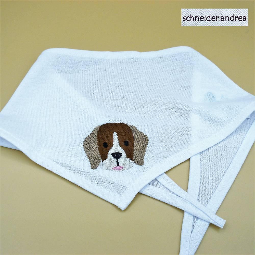 besticktes Hunde - Halstuch BEAGLE Bild 1