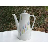 kleine Kaffeekanne, Teekanne, Porzellan, Pastell, 50er, Rockabilly, Mid Century, Vintage, Markenporzellan, Bild 1