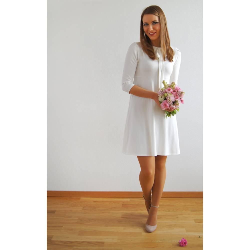 schlichtes Brautkleid SchleifenKleid  AVA Kleid fürs Standesamt Bild 1