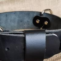 Hundehalsband - Vollrindleder - für große Hunde, im indianischem Stil 4cm breit, Türkis oder Koralle (HH 23) Bild 7