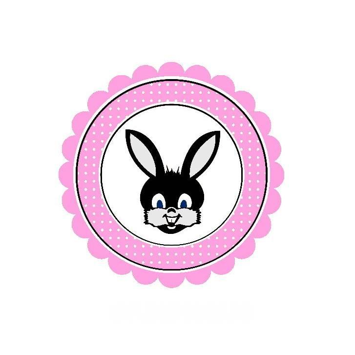 20 Aufkleber / Sticker MOTIV ...Hase rosa Bild 1