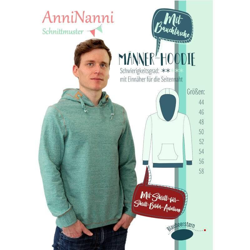"Schnittmuster Anni Nanni ""Männerhoodie"" Bild 1"