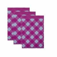 10 Papiertüten KARO raute - pink 17x25 cm Bild 1