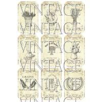 9 Papieraufkleber ~ Getreide ~ A4 Motivbogen   ~  Vintage ~  Shabby ~  No.58 Bild 1
