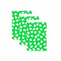 10 Papiertüten Herz grün 17x25 cm Bild 1