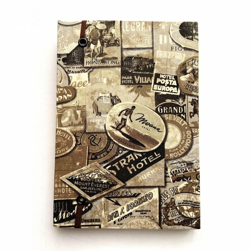 Vintage Tagebuch Notizbuch PU Lederbuch Retro Heft Notiz Reisen Kladde 320 Blatt