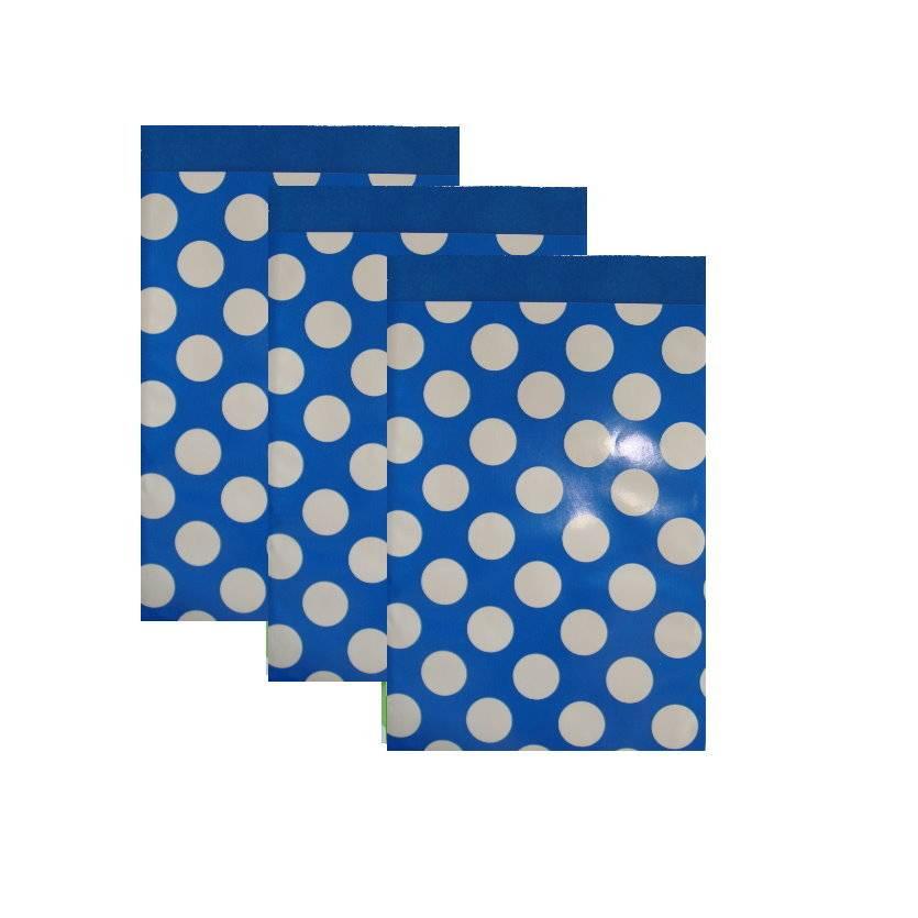 10 Papiertüten  DOTS dunkelblau 17x25 cm Bild 1