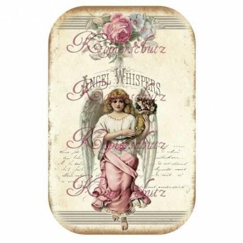 Bügelbild * ENGEL~ ANGEL * TRANSFER * Aufbügeln * Shabby * Vintage Motiv * No.11