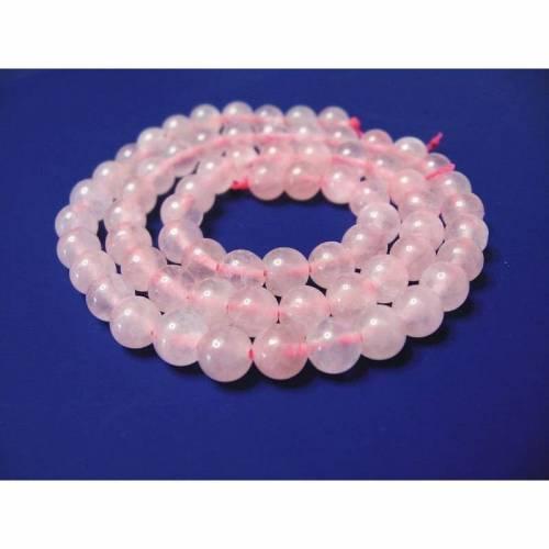 1 Strang Rosenquarz  ca.40cm Kugeln 6mm Perlen neu Beads 9253