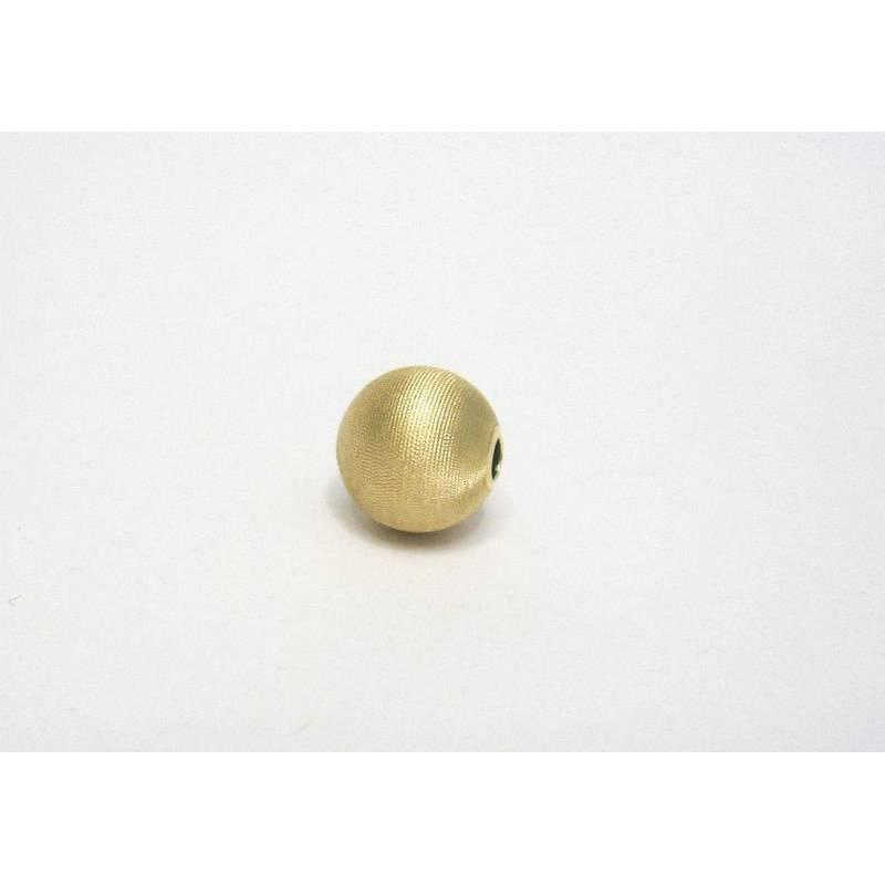 Satinierte Kugel 8 mm aus Silber 925 vergoldet Bild 1