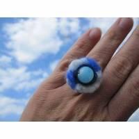 """Filz-Ring """"Blick in den Himmel"""" Bild 1"""