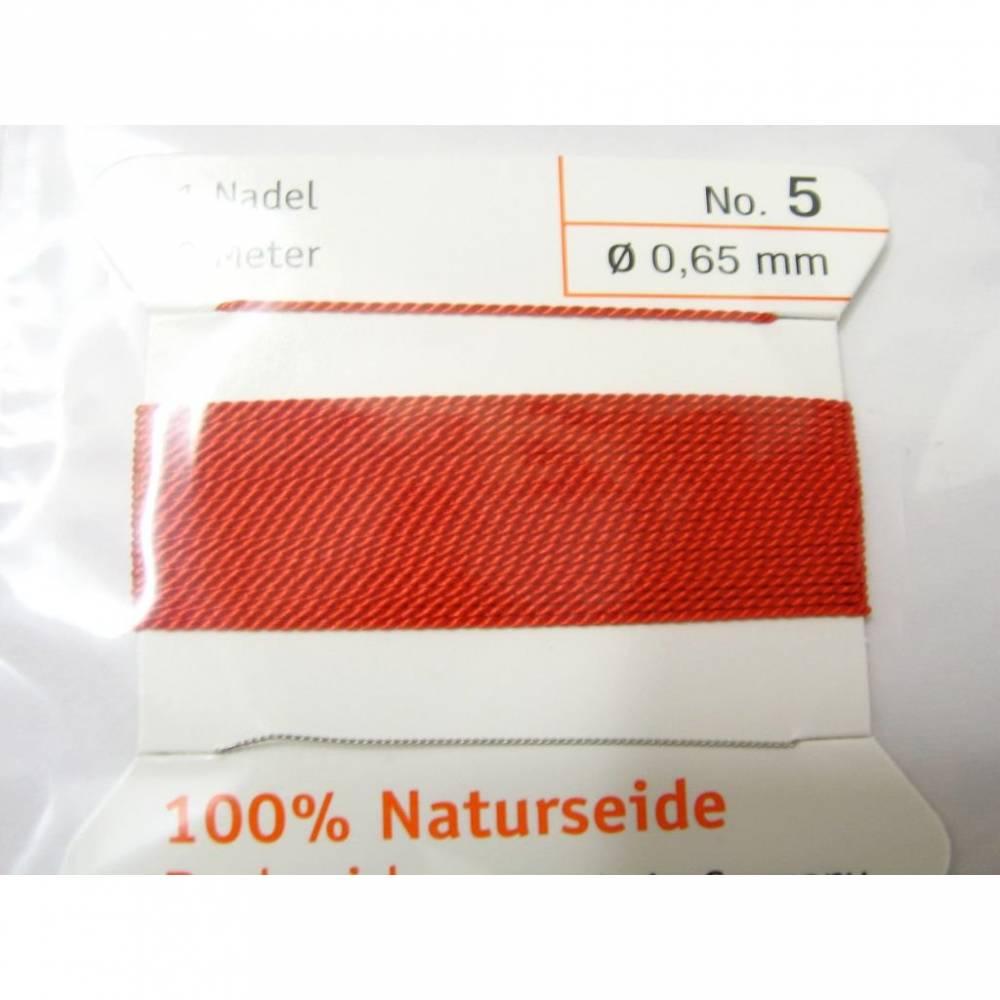 Natur  Perlseide 0,65 Rot Bild 1