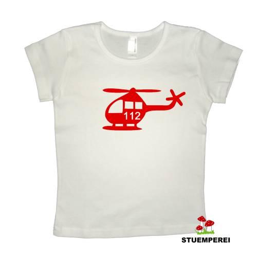 Bügelbild / Flockbügelbild HELI (Polizei oder Feuerwehr) Helikopter, Hubschrauber