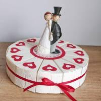 Geschenkverpackung, Hochzeitstorte aus Papier, Tortenstücke, Geldgeschenk aus der Manufaktur KarLa Bild 1
