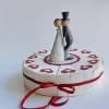 Geschenkverpackung, Hochzeitstorte aus Papier, Tortenstücke, Geldgeschenk aus der Manufaktur KarLa Bild 10