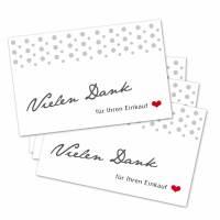 25 Danke-Karten, 300 g, 85 x 55 mm, Ihren Einkauf, Mini, Kundenkarte, Dankekarte, Danke-Anhänger Bild 1