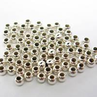 50 Quetschperlen 2,5 mm aus 925er Sterling Silber Bild 1