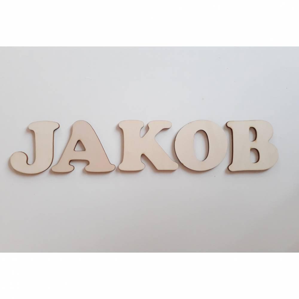 Buchstabenrohlinge, Holzbuchstaben, Rohlinge unbemalt 8 cm hoch Bild 1