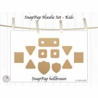 Labels aus SnapPap, Hoodie Set Kids, hellbraun, mit oder ohne Ösen Bild 1