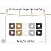 10 Ösenverstärkungen aus SnapPap, Ösen Verstärkungen Bild 1