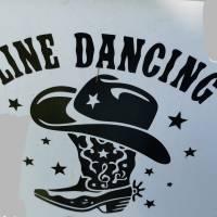 Aufkleber (Sticker) Line-dance schwarz Bild 1