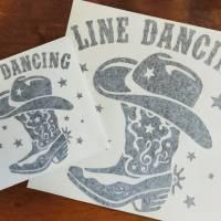Aufkleber (Sticker) Line-dance schwarz Bild 2