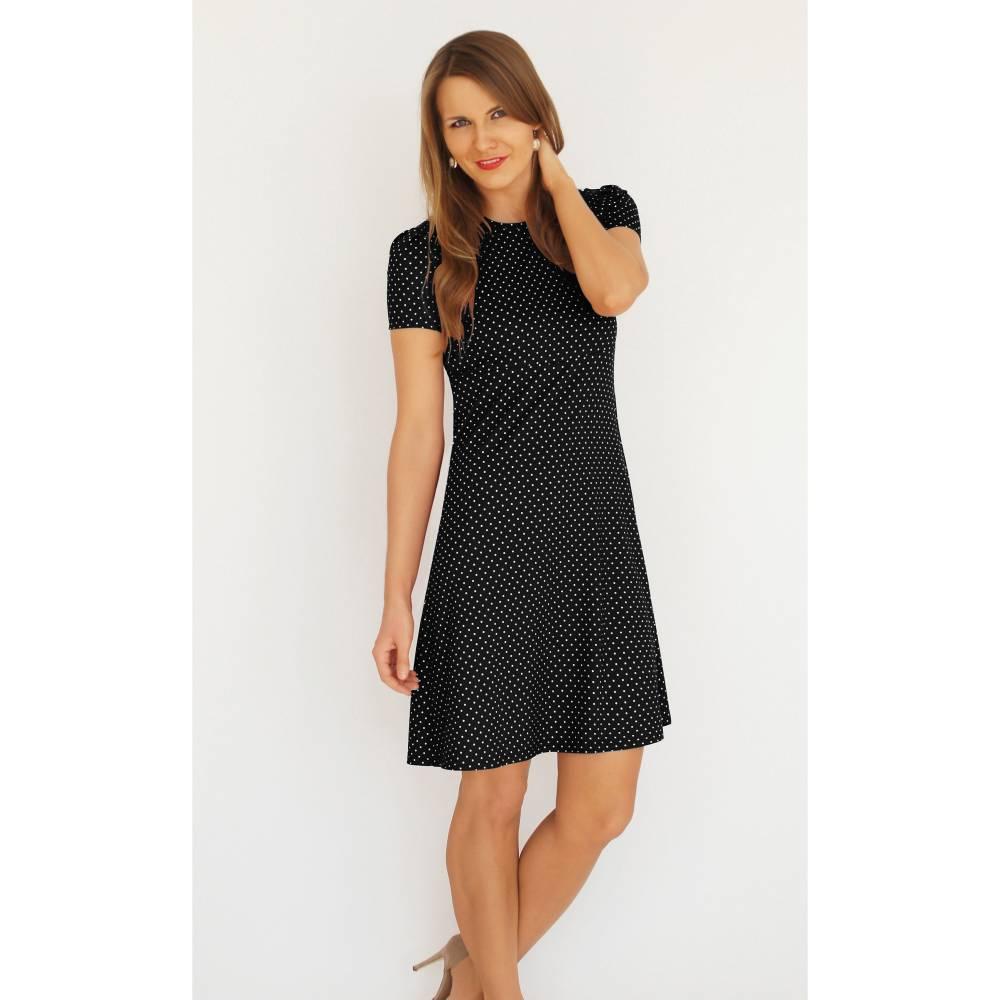Kleid AVA Punkte schwarz-weiß von Feen und Helden  Bild 1