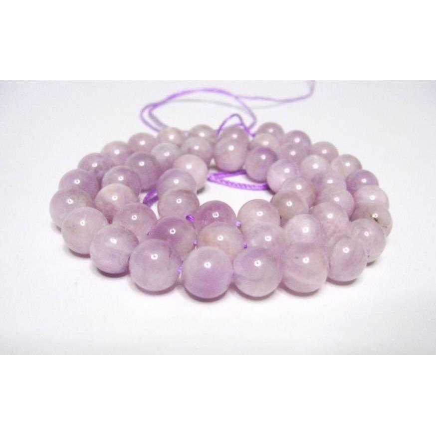 Kunzit Perlen 8 mm Edelstein Strang, Kugelstrang, Kettenstrang Perlen rund Bild 1