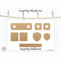 Labels aus SnapPap, Hoodie Set, hellbraun, mit oder ohne Ösen Bild 1