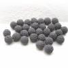 Häkelperle 24 mm in Wunschfarbe, bunte Häkelkugel, Holzkugel umhäkelt mit Baumwollgarn Bild 6