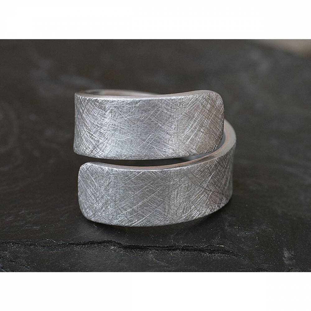 Spiralring Aluminium eismatt, Ring offen verstellbar Bild 1