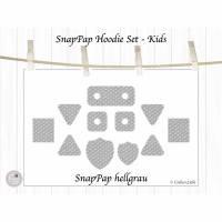 Labels aus SnapPap, Hoodie Set Kids, hellgrau, mit oder ohne Ösen Bild 1
