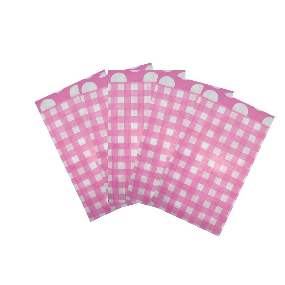 10 Papiertüten KARO rosa Bild 1