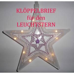 Klöppelbrief für einen Leuchtstern