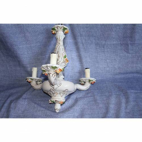 Kronleuchter aus Porzellan Vintage