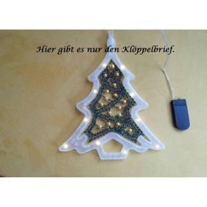 Klöppelbrief für den Leuchttannenbaum