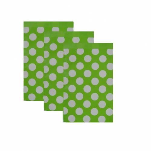 10 Papiertüten  DOTS grün 17x25 cm