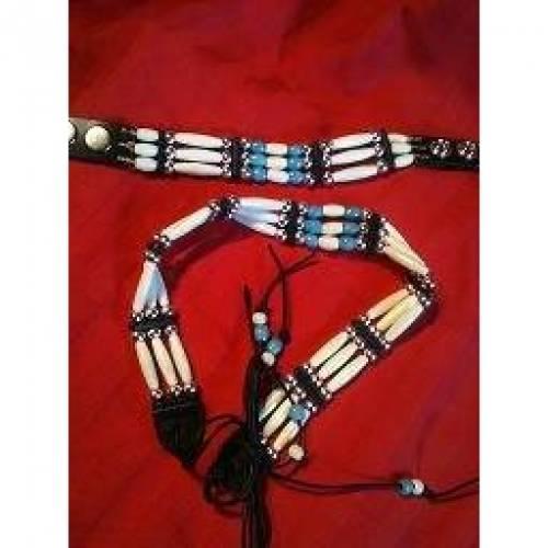 Choker im indianischem Stil mit Armband