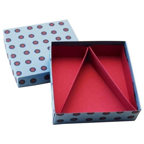 Schachtel mit Unterteilung, Geschenkschachtel, Aufbewahrungsschachtel