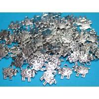 10 x Schaf Schäfchen Metallanhänger Bild 1