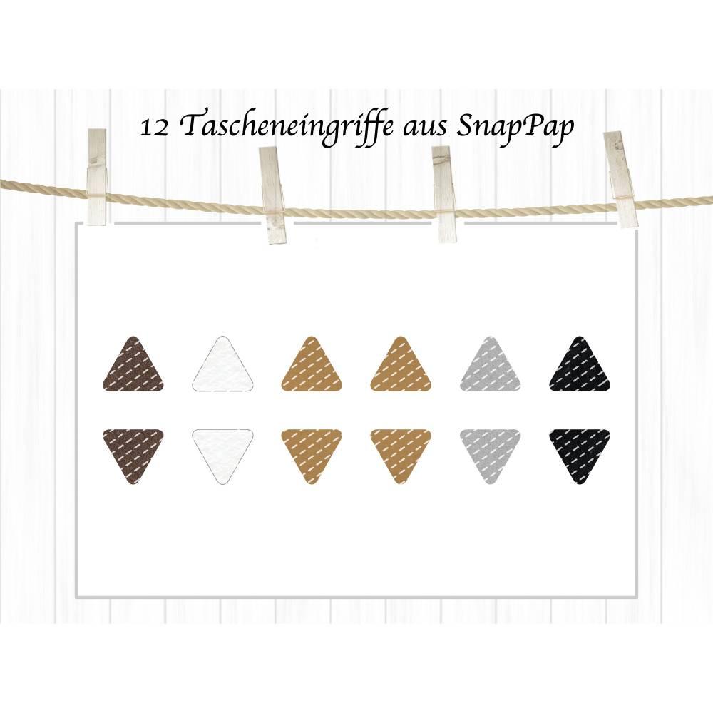 12 Tascheneingriffe aus SnapPap, Eingriff Verstärkungen Bild 1
