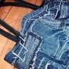 Jeanstasche, Einkaufstasche,Shopper, Jeans Upcycling, Recycling, Tragetasche Bild 1