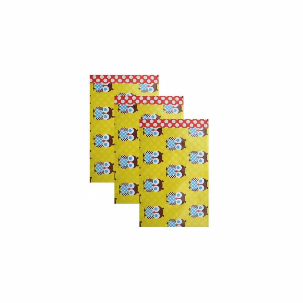 10 Papiertüten EULE gelb 17x25 cm Bild 1