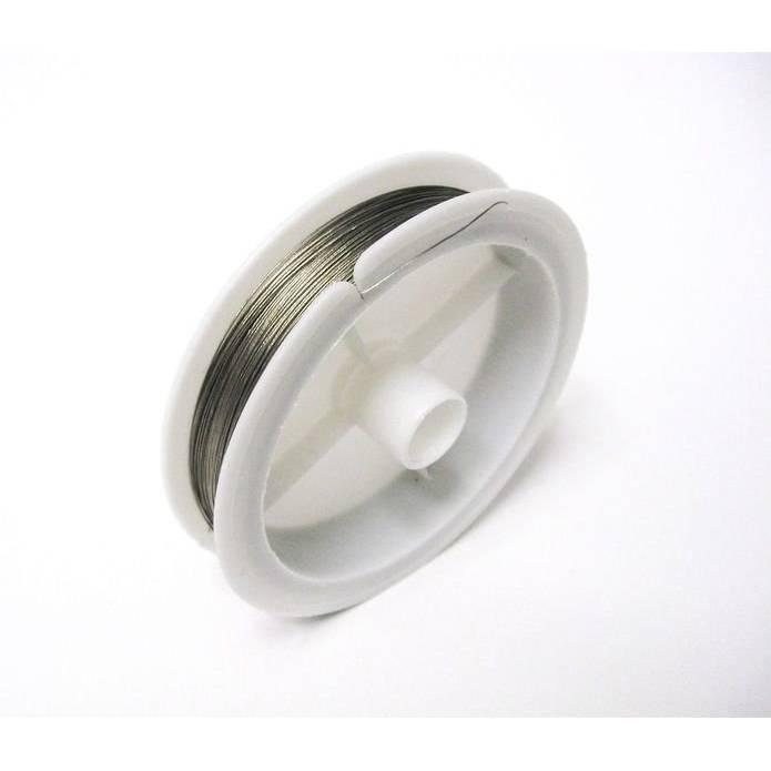 0,08 EUR/M Stahlseide,Schmuckdraht Juwelierdraht, 0,30 mm auf Spule 100 M Bild 1