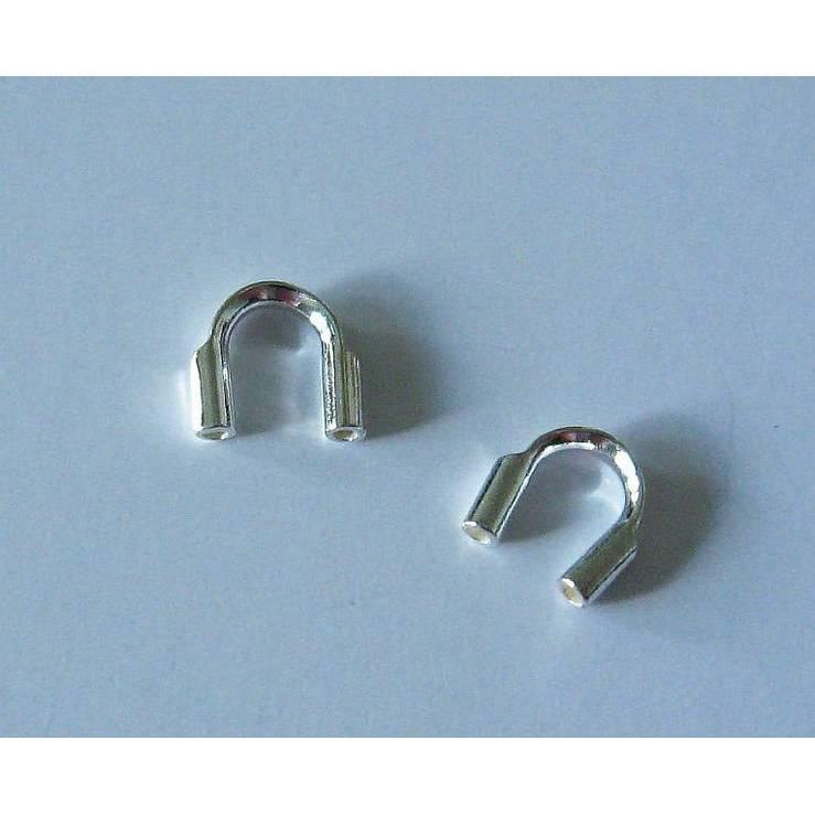 2 Stück Drahtschutz, Wireguardian aus Silber 925, Kettenendteile, Endkappe, Schmuckzubehör, Schutz Bild 1