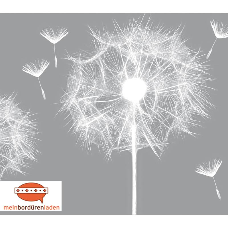 Selbstklebende Vlies Bordüre: Pusteblume - 12 cm Höhe Bild 1