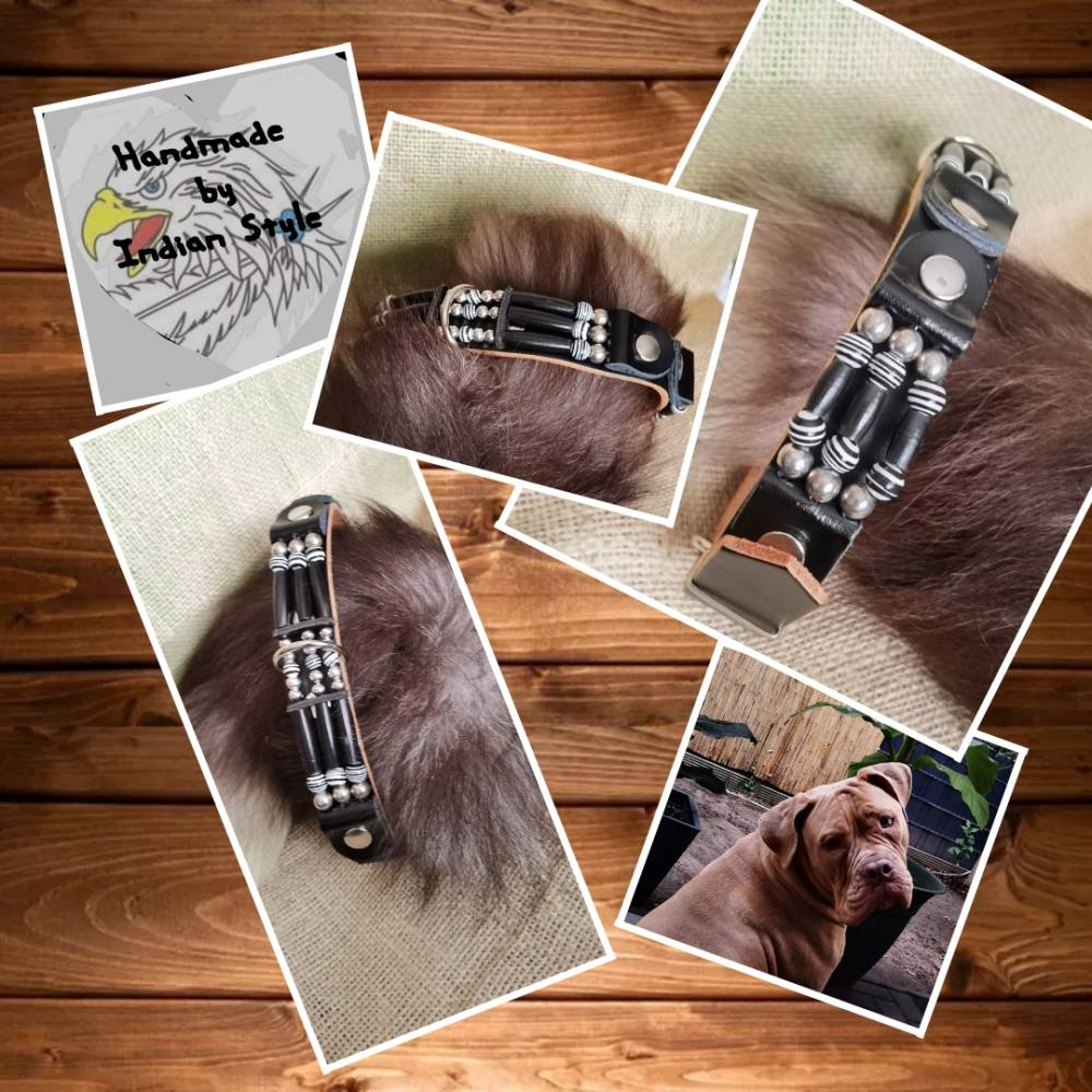 Hundehalsband - Vollrindleder - im Country Stil (HH 10) Bild 1