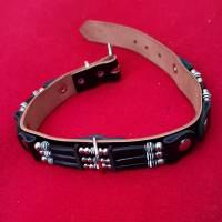 Hundehalsband - Vollrindleder - im Country Stil (HH 10) Bild 3