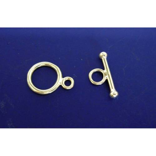Ring-Stab,Knebelverschluss, Toggle Silber 925